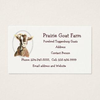 Custom Goat Farm Animal Business Card