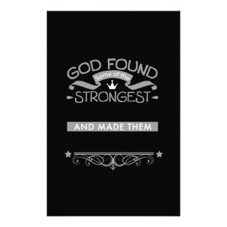Custom God Found Men and Women Workers Stationery