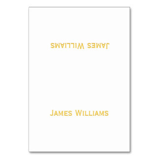 Custom Gold And White Table Place Setting Cards