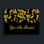 """Custom Gold Faux Foil Confetti Envelope<br><div class=""""desc"""">A beautiful gold faux foil look envelope with confetti sprinkles. (Note: This is a graphic art print and contains no glitter or foil). Envelope color and font can be easily changed.</div>"""