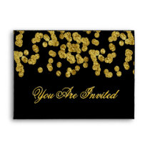 Custom Gold Faux Foil Confetti Envelope