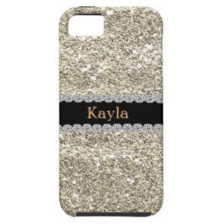 Custom GOLD GLITTER Bling I PHONE 5s iPhone SE/5/5s Case
