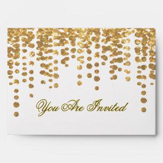 Custom Gold Glitter Confetti Look Envelope