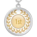 Custom Gold Laurel necklace