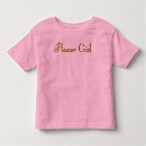 Custom Gold Monogram shirt Flower Girl