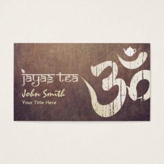 Custom Gold Om Symbol Jayastea.com Vintage Business Card