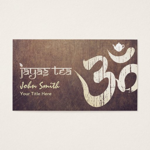Custom Gold Om Symbol Jayastea.com Vintage Business Card