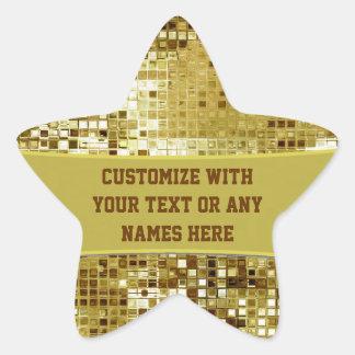 Custom Gold Sequins Cool Star Sticker