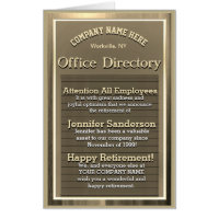 Custom Gold Vintage Retirement Sign Card