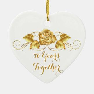 Custom Golden Anniversary Christmas Ornament