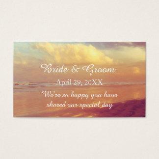 Custom Golden Dawn Beach Wedding Favor Tag