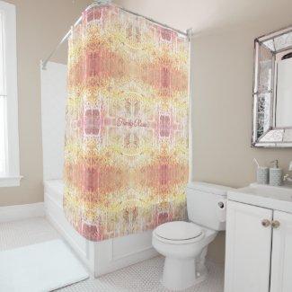 Custom Golden Elegant Shower Curtain