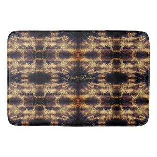Custom Golden Luxury Abstract Bath Mat