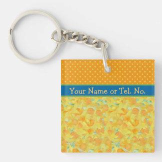 Custom Golden Yellow Daffodils Keychain