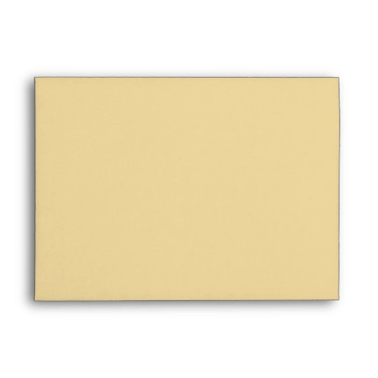 Custom Golden Yellow Envelope with Return Address