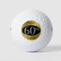 Custom Golf Balls For 60th Birthday