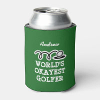 Custom golf can cooler for world's okayest golfer