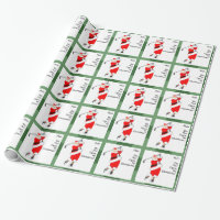 Custom Golf Christmas Wrapping Paper