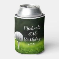 Custom Golf Design Can Cooler
