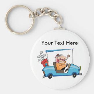 Custom Golf Gift Basic Round Button Keychain