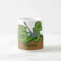 Custom Golf Graphic Coffee Mug