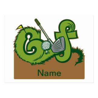 Custom Golf Graphic Postcard