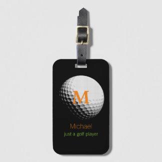 custom golf-player name bag tag