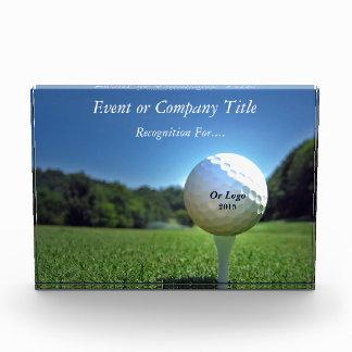 Custom Golf Theme Horizontal Block Award