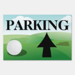 Custom Golf Tournament Parking Arrow Yard Sign