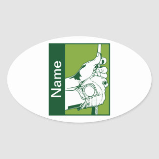 Custom Golfer Oval Sticker