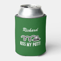 Custom golfing can coolers with funny golf quote