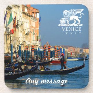 Custom Gondola Picture - Venice, Italy Drink Coaster