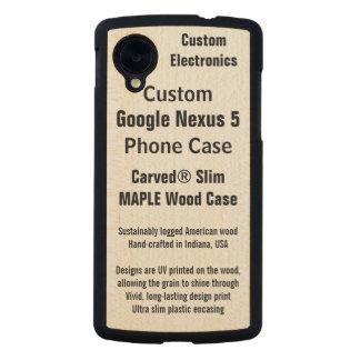 Custom Google Nexus 5 Maple Real Wood Phone Case