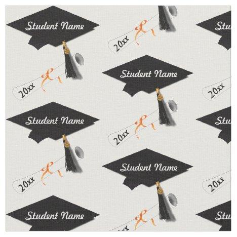 Custom Grad Cap and Diploma Fabric