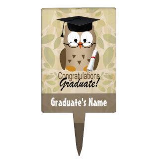 Custom Graduation Cake Topper, Cute Owl Cake Topper