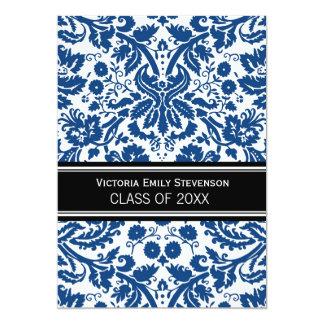 Custom Graduation Party Invitation Blue Black