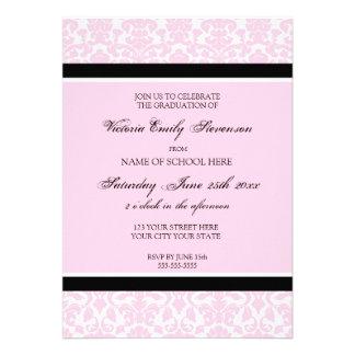 Custom Graduation Party Invitation Card Pink