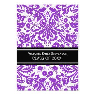 Custom Graduation Party Invitation Purple Black
