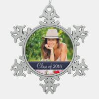 Custom Graduation Photo Holiday Ornament