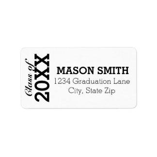 Custom Graduation Return Address Labels