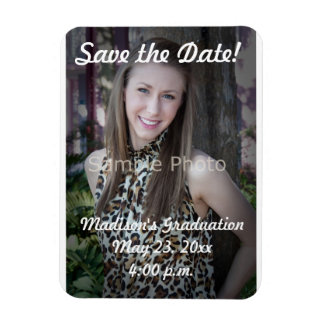 Custom Graduation Save the Date Photo Magnet