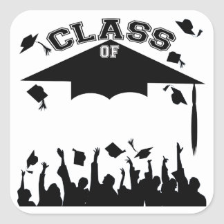 Custom Graduation Square Sticker