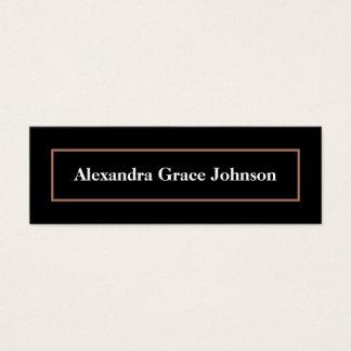 Custom Graduation Status Card (black/gold)