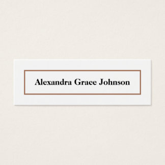 Custom Graduation Status Card (white/gold)