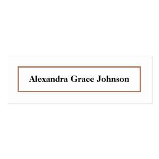 Custom Graduation Status Card (white/gold) Business Card Template