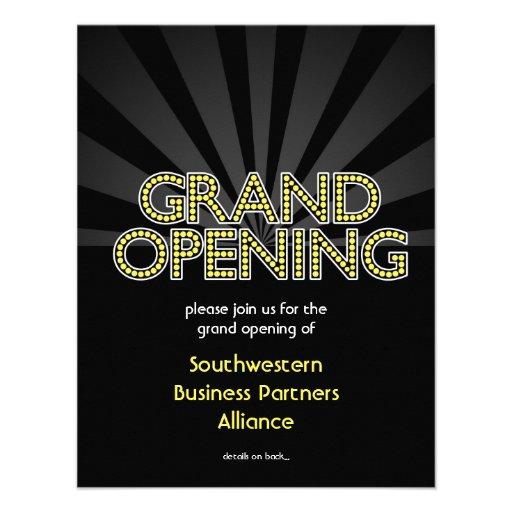 Custom Grand Opening Invitation, City Lights