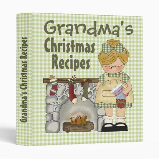 Custom Grandma Recipe Binder