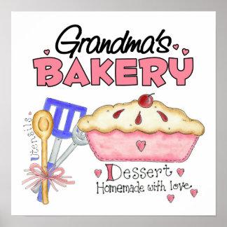Custom Grandmas Bakery Poster