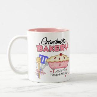 Custom Grandmas Bakery Two-Tone Coffee Mug