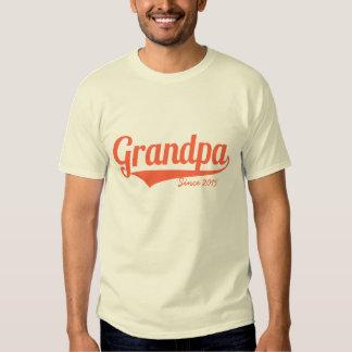 Custom grandpa since year shirt